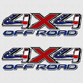 Tundra American Flag 4x4 Truck Decal Set Military USA Off Road Stickers