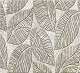 Dundee Deco P458932 Silver Grey Faux Leaves, 3.2 ft x 1.6 ft (96cm x 48cm), PVC 3D Wall Panel, Interior Design Wall Paneling Decor, 5.12 sq. ft. (0.46 sq. m)
