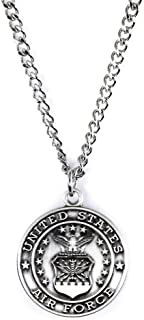 Military Medals Sterling Silver Saint Michael Protect Me, 3/4 Inch