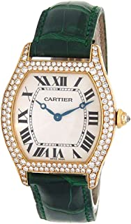 Cartier Tortue Mechanical-Hand-Wind Female Watch 2496 (Certified Pre-Owned)