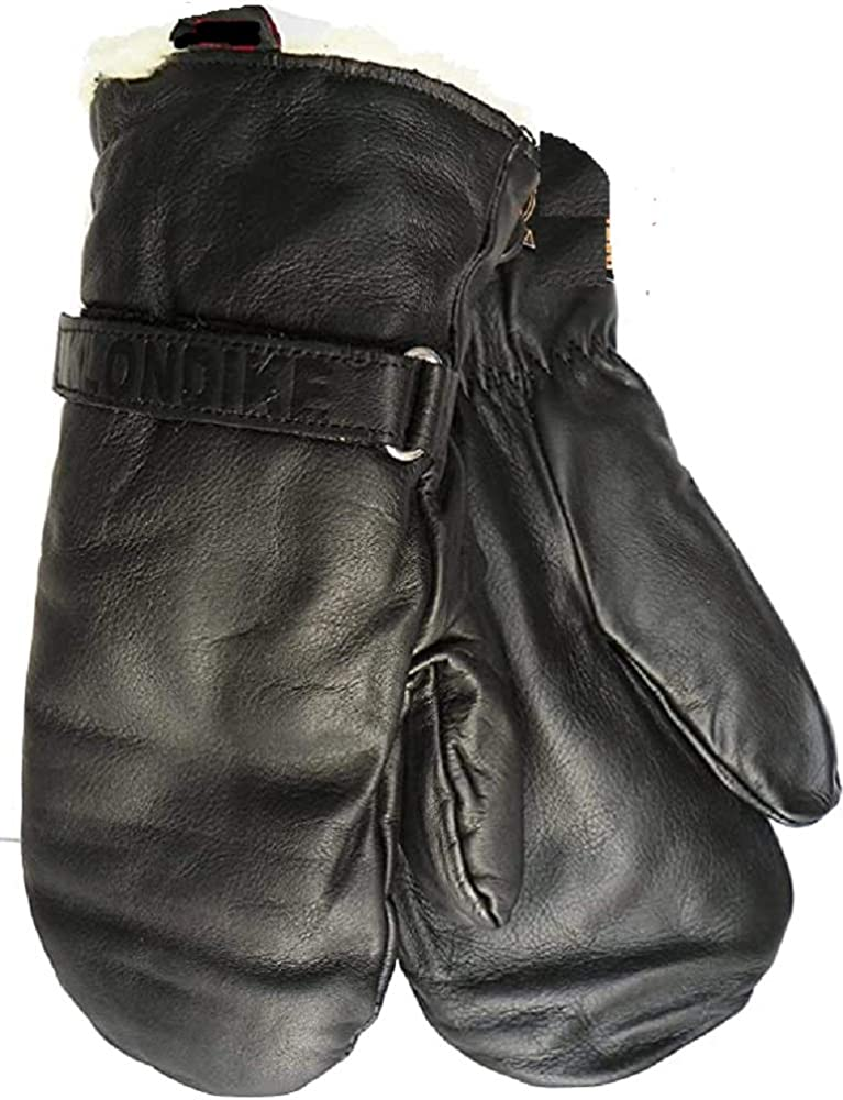 Klondike Sterling Ultimitt Cow Grain Chopper Mitten Gloves Leather Hockey Mitt (Large, Black)