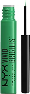 NYX PROFESSIONAL MAKEUP Vivid Brights Liquid Eyeliner - Vivid Envy, Muted Turquoise With Green Undertone