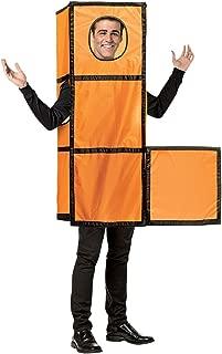 Video Game Tetris Tetrimino Orange Adult Costume
