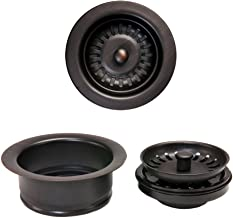Premier Copper Products DC-1ORB Drain Combination Package for Double Bowl Kitchen Sinks, Oil Rubbed Bronze