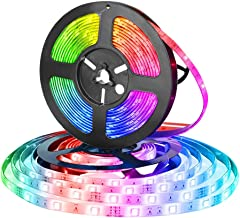 Eleadsouq LED Strip Light USB Powered Smart WiFi 2 Meter TV Backlight Strips Lighting Colorful 5050 RGB Lights Home Decora...