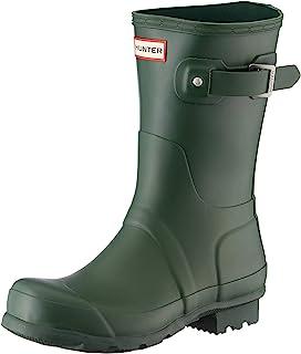 حذاء مطر حريمي أصلي قصير لامع Hunter Green - 8 UK 42 EU 10 US