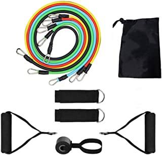 11Pcs Resistance Bands Set Expander Exercise Fitness Rubber Band Stretch Training Home Gyms Workout,Bodybuilding Elastic P...
