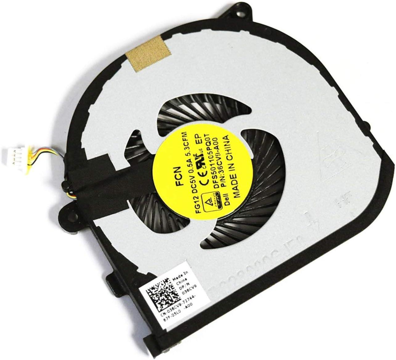 FOR DELL Max 78% OFF Charlotte Mall 36CV9 Genuine OEM Dell RI 9550 XPS 5510 15 Precision