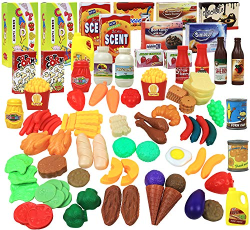 120-Piece Click N' Play Pretend Play Food Set  $8.10 at Amazon