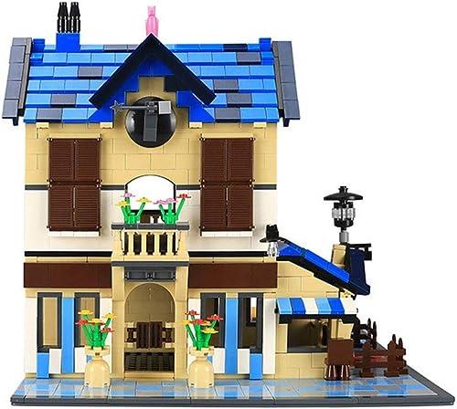 Monde Style Blocs De Construction cadeau Maison De Campagne DIY Puzzle Blocs De Construction
