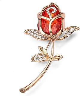 XIYUXUAN Valentine, Edizione Limitata Motivo a s, Colore: Rosa, in Confezione Regalo, Colore: Oro, con Cristalli, a Forma ...