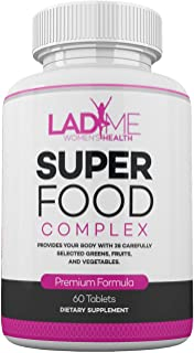 Sponsored Ad - Organic SuperFood Complex for Women - Immune Support Best Super Greens Supplement with 14 Greens, Fruits an...