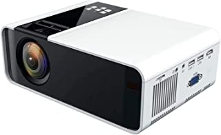 ZLSANVD LED Projector W10 Mini LED 1080P Projector Ultra-HD Home Theater Projector White Support for Dual USB HDMI YGA/Hea...