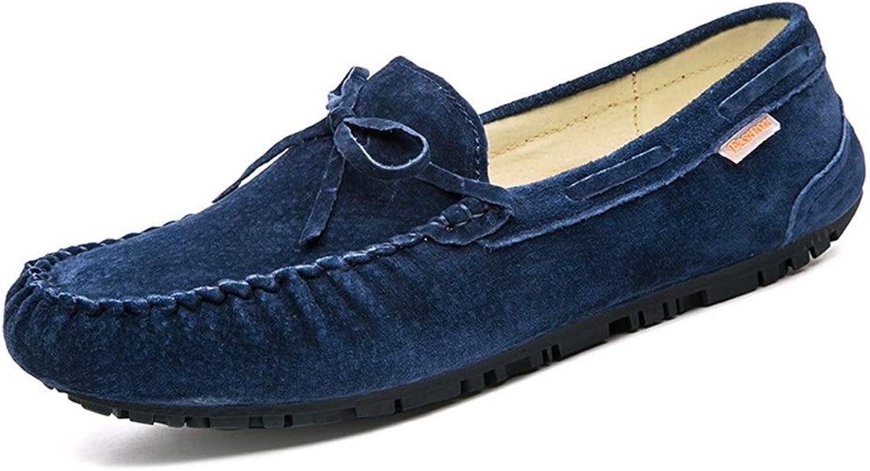 blåY blåY blåY QYH Ins Popular Drive Loafer for män Boat Mocasins Slip On Style Pigskin Mode Bowknop Pure Färgs  het försäljning online