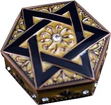 Bciou Small Size Vintage Sieraden Doos Hexagram Ring Doos Ketting Opbergdoos