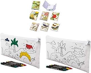 Lote de 30 Estuches para Colorear Infantiles Dinos con 4