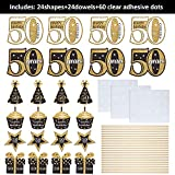 Blulu Geburtstag Party Dekoration Set Goldene Geburtstagsparty Herzstück Sticks Glitter Tischdekoration für. Geburtstagsparty Lieferungen, 24 Packungen (50 Jahre Geburtstag) - 5