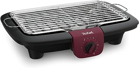 Tefal BG90E5 Easygrill Adjust Elektrische tafelgrill (2300 watt, 720 cm² grilloppervlak) zwart/bordeaux