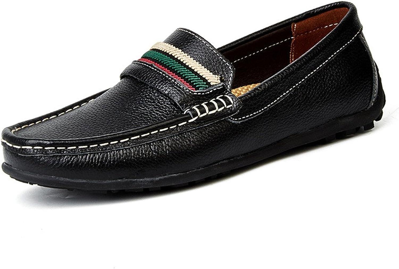 WWJDXZ Herren Casual Lederschuhe Atmungsaktive Fahrschuhe Moccasin Low-Top-Schuhe Lssige Herrenschuhe