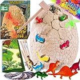 Dinonano Jumbo Dinosaur Egg Toys for Kids - Dino Egg STEM Toy Night Light Dinosaur Figures Surprise Gift Box Cool Science Tool Kit for Toddler Girl Boy Ages 3 4 5 6 7 8 Years Old