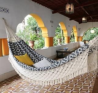 xl navy jacquard hand woven brazilian double hammock