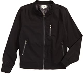 Brands Kids Black Twill Military Inspired Bomber with Tonal Camo Printed Lining for Big and Little Boys