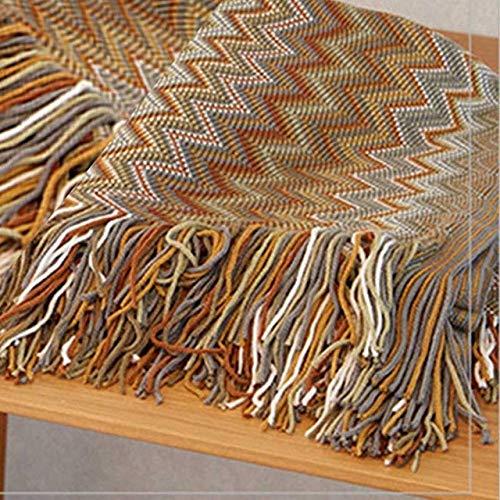 Yuzha Bohème-gebreid kleur vrije tijd, tijd, bank, kussen, deken voor eenvoudige tweepersoons comfortabel, zacht