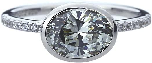 grey oval diamond