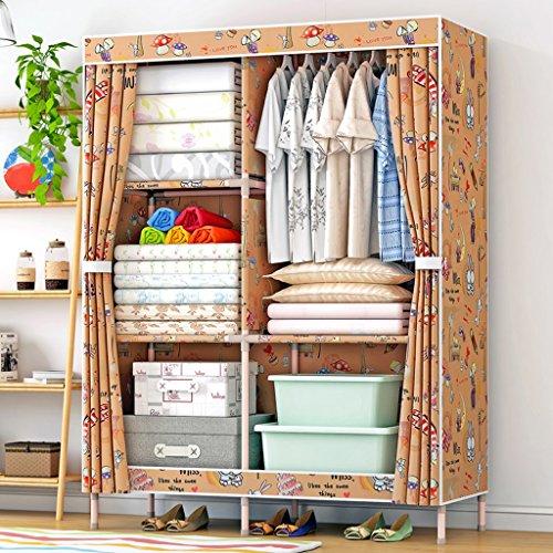MMM& Einfache Kleiderschrank Massivholz Oxford Tuch Erwachsene Tuch Kleiderschränke Montage Eintritt Schlafzimmer Schrank (Farbe : #1)