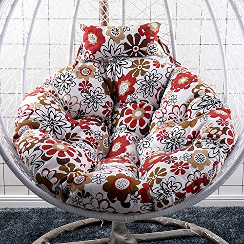 GJBHD Hanging Egg Hammock Chair Cushions,Swing Nest Seat Cushion Sofa Lumbar Support Cushion Back Pad with Pillow-k Diameter:105cm