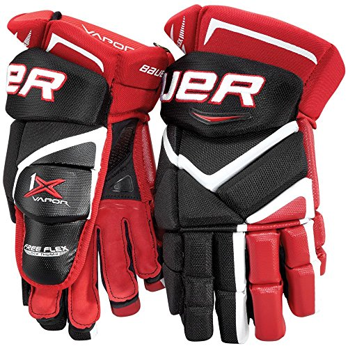 Bauer Vapor 1X Handschuh Senior MTO Senior Special Colours, Größe:15 Zoll, Farbe:Weiss/rot