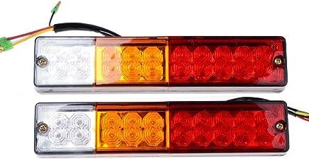 Shsyue 2pcs 20 LED Waterproof Rear Light 3W Vehicle Lights Truck RV Turn Signals Taillights Red Yellow White
