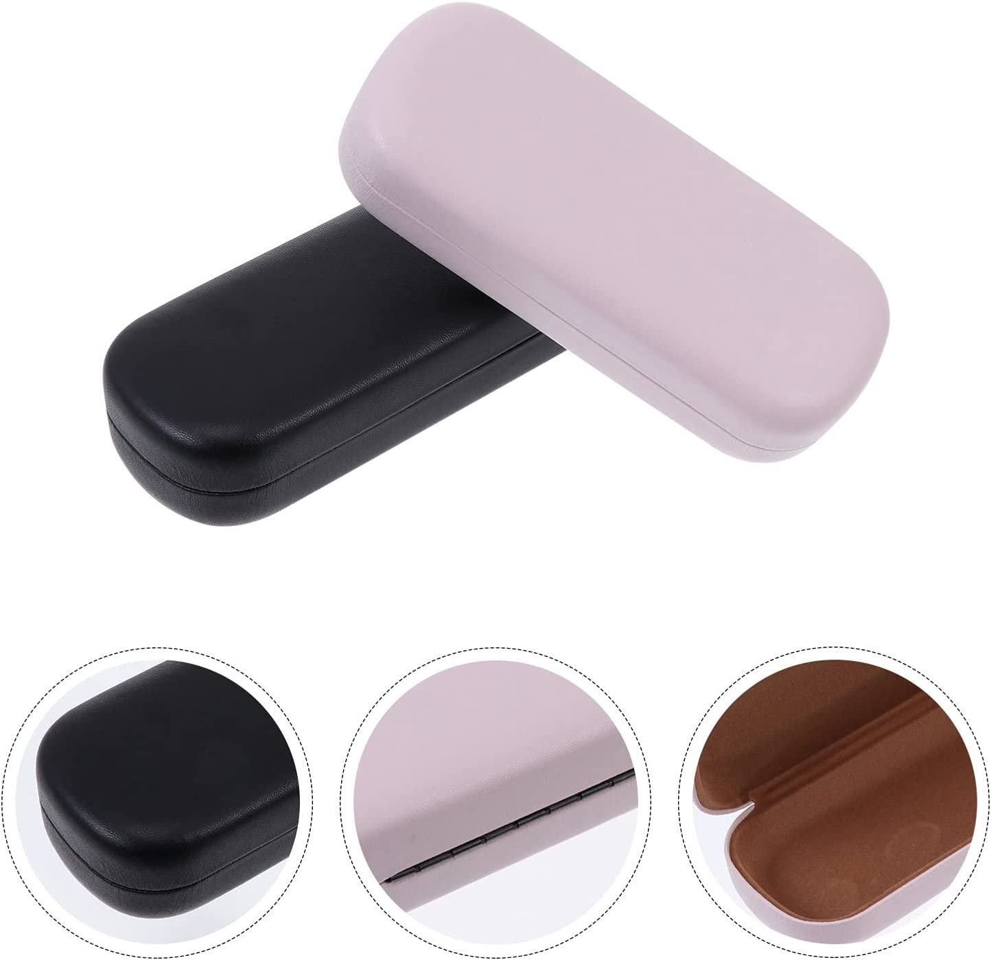 EXCEART 2pcs Soft Glasses Case Leather Sunglasses Eyeglasses Spectacle Storage Case Holder for Men and Women