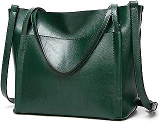 Shoulder Bag Ladies Shoulder Messenger Bag Large Capacity European and American Fashion Briefcase Mezzanine Zipper Opening Handbag Clutch (Color : Green)