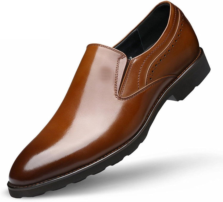 NIUWJ Men Business Casual Fashion Comfortable Wedding Leather shoes