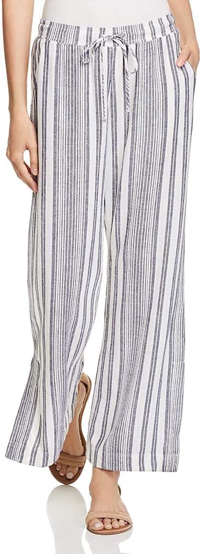 Bella Dahl Womens Slit Stripe Wide Leg Pants