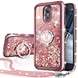 Silverback Compatible for LG Stylo 4 Case,LG Stylo 4 Plus Case,LG Q Stylus 4, Moving Liquid Holographic Sparkle Glitter Case with Kickstand, Bling Diamond Ring Slim Protective LG Stylo 4 -RD