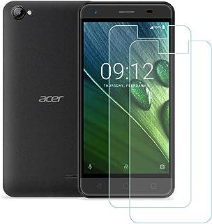 YZKJ 2 stycken pansarglas skyddsfolie för Acer Liquid Z6E, 9H hårdhet ultratydligt härdat glas displayskyddsfilm, anti-olj...