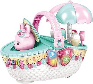 家の台所のおもちゃ 男の子と女の子の電気キャンディーカート シミュレーションユニバーサルアイスクリームトロリー 子供向けインタラクティブ教育玩具 3-7歳の誕生日プレゼント (Color : Green, Size : 43*23*17cm)