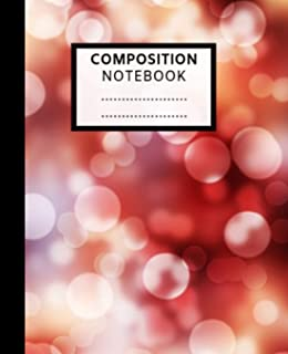 Composition Notebook: Pretty Wide Ruled Paper Notebook Journal | Cute Red  Glitter sparkle  Shiny Wide Blank Lined Workbook for Teens Kids Students Girls for Home School College for Writing Notes