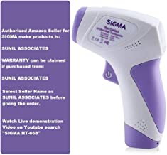 SIGMA Make Digital Infrared Thermometer Non-contact IR Infrared (Temperature Meter) HT - 668, With 3 Color LCD Display wit...