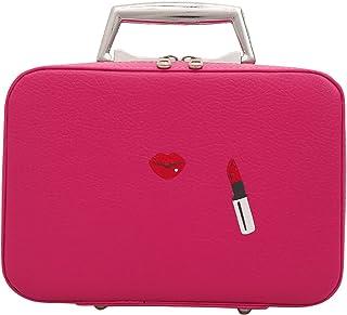 Make-uptas, draagbare make-uptas, lip PU-leer lychee-patroon vrouwelijke make-uptas met grote capaciteit voor op reis (23...
