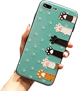 BONTOUJOUR iPhone Xs Max Cover Case Super Cute Fun Embossed Cartoon Animal Pattern Soft TPU Bumper Hard PC Back Cover 360 Degree Protection-cat Hands-Green