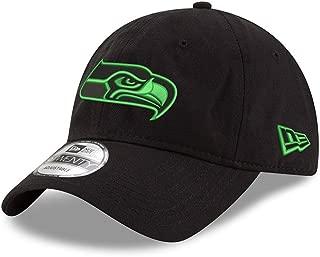 New Era Seattle Seahawks Black and Green 9TWENTY Adjustable Hat/Cap