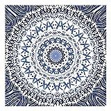 GQKLSA Mandala Motif Affiche Cercle Toile Peinture À l'huile Oeuvre Salon Nordique Décoration de La Maison Murale 50x50 cm