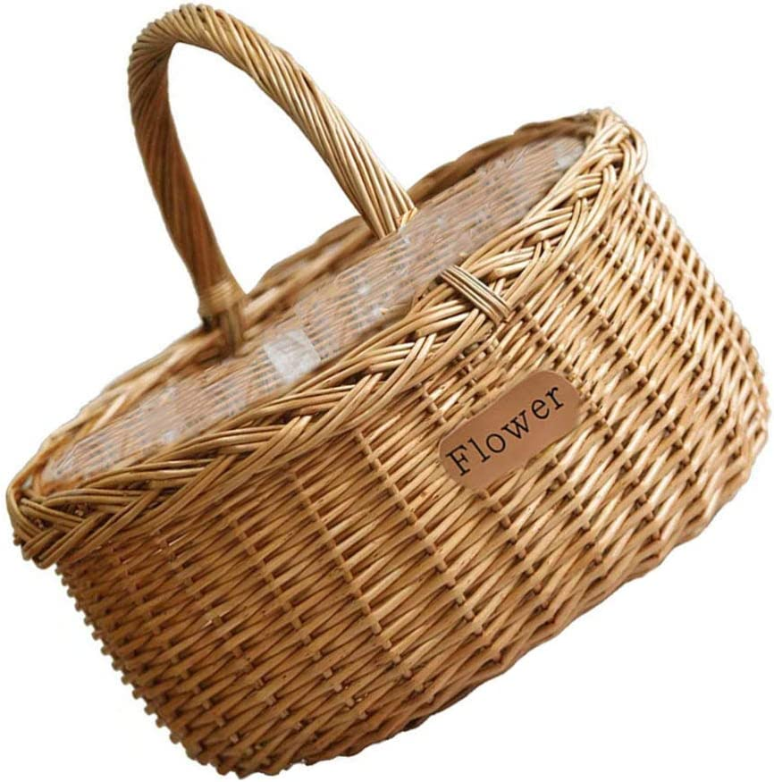 Garneck Rattan Woven Storage and Baskets Ha Very popular! Max 90% OFF Hamper with Shopping