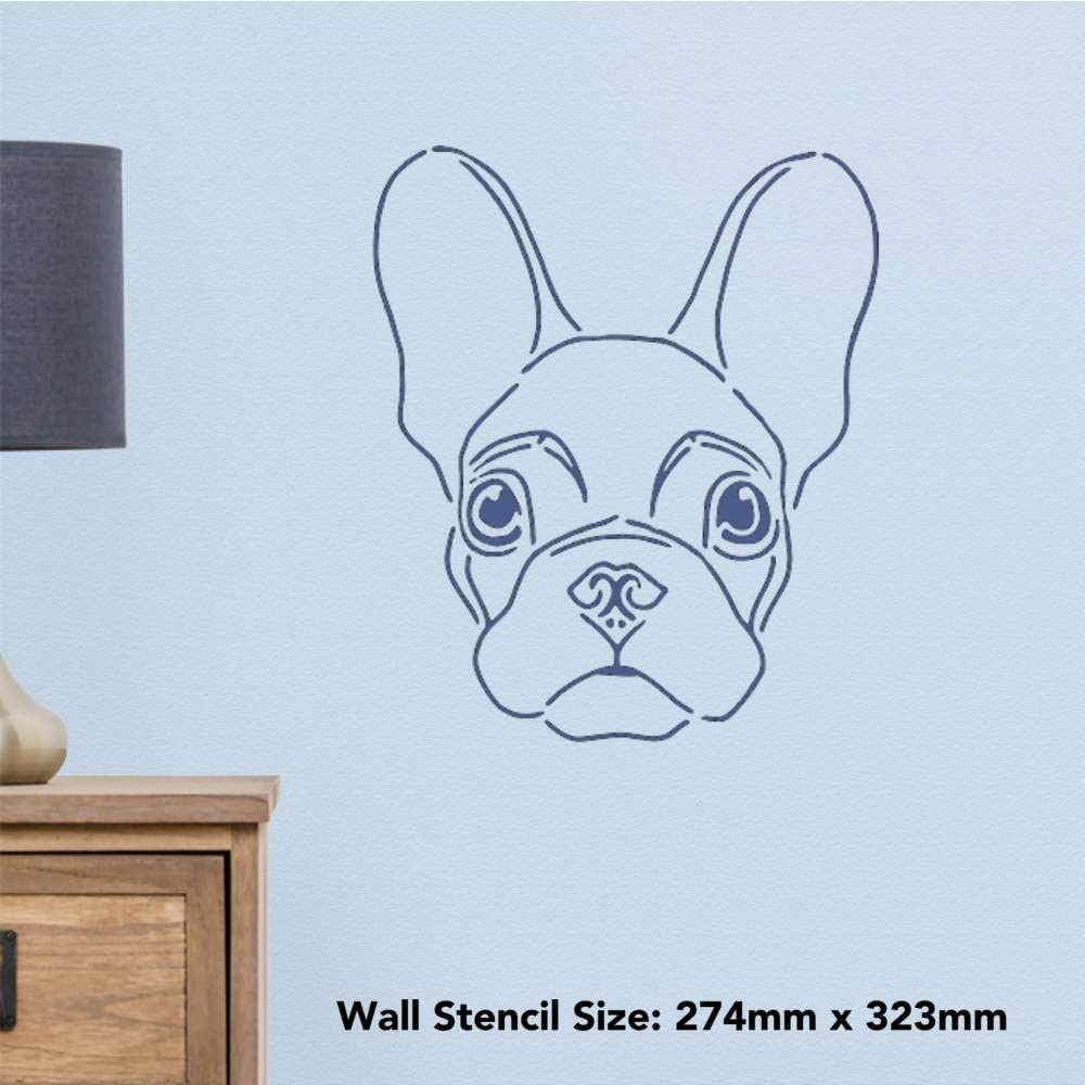 Large A2 French Bulldog Wall Stencil Template WS00035345