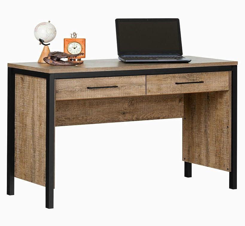Farmhouse Writers Desk Drawer 2 Computer Office Standing Decor Wood Student Table Gaming Corner Desktop Keyboard Modern Unit & Ebook by AllTim3Shopping.