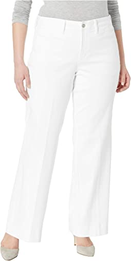 Plus Size Teresa Trousers in Optic White