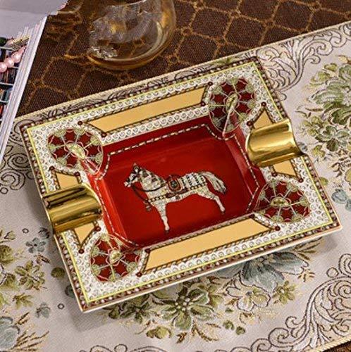 Aschenbecher aus Keramik/Jahrgang/hochwertiger große Zigarre Aschenbecher dekorative Ornamente,4